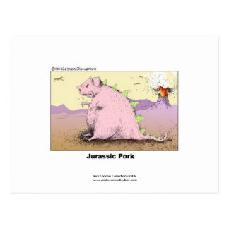Jurrasic Pork Hilarious Cartoon Postcard
