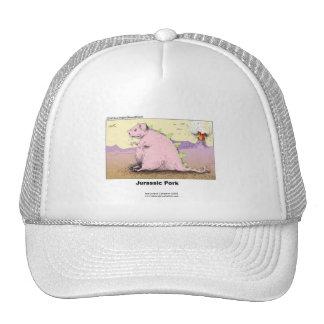 Jurrasic Pork Hilarious Cartoon Quality Cap Trucker Hat