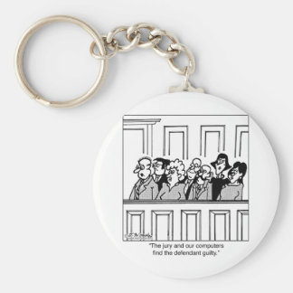 Jury Cartoon 2640 Keychain