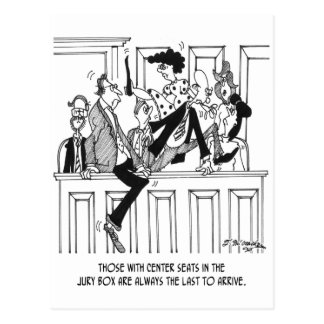Jury Cartoon 4657 Postcard