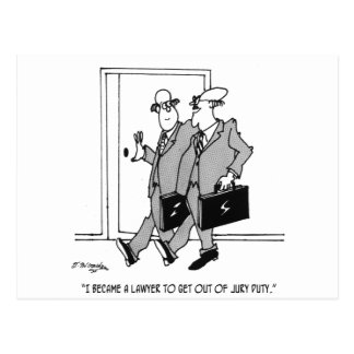Jury Cartoon 5492 Postcard