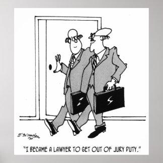 Jury Cartoon 5492 Poster