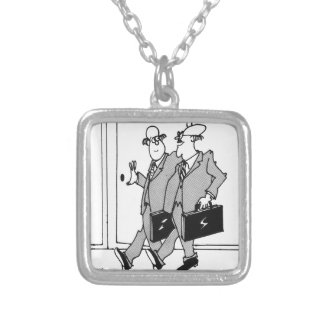 Jury Cartoon 5492 Silver Plated Necklace