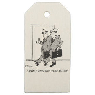 Jury Cartoon 5492 Wooden Gift Tags