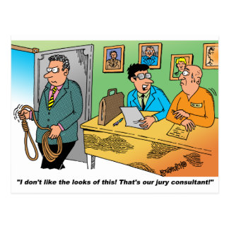 Jury Consultant Holding A Noose Postcard