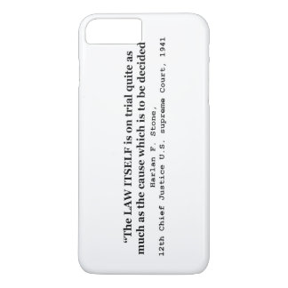 Jury Nullification by Justice Harlan F. Stone 1941 iPhone 8 Plus/7 Plus Case