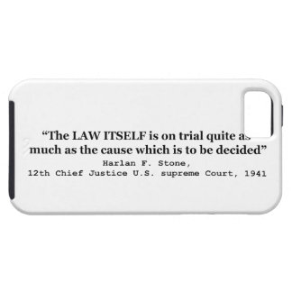 Jury Nullification by Justice Harlan F. Stone 1941 iPhone SE/5/5s Case
