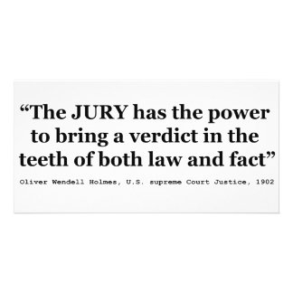 Jury Nullification Quote by Oliver Wendell Holmes Personalized Photo Card