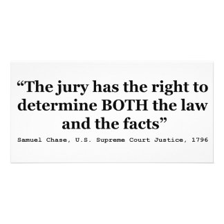 Jury Nullification Quote Justice Samuel Smith 1796 Card