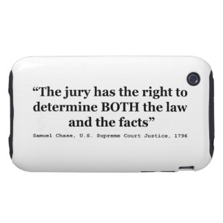 Jury Nullification Quote Justice Samuel Smith 1796 iPhone 3 Tough Case