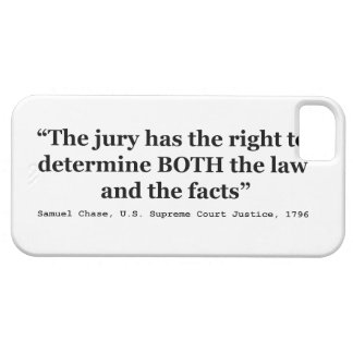 Jury Nullification Quote Justice Samuel Smith 1796 iPhone SE/5/5s Case