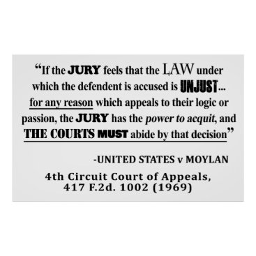 Lawyer Themed Jury Nullificaton Case Law Quote Poster