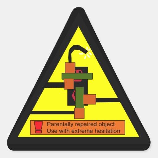juryrig warning stickers