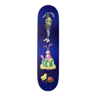 Jus Chillin' Easter: Bunny, Cool Dude and Chick Skateboard Deck