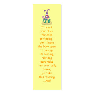 Jus Chillin' Easter Bunny on decorated egg Bookmar Double-Sided Mini Business Cards (Pack Of 20)