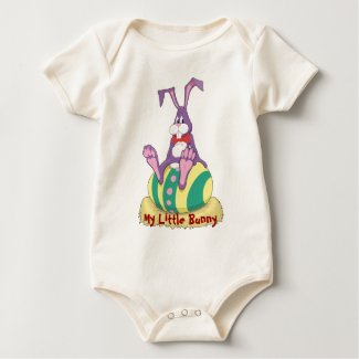 Jus Chillin' Easter Bunny on decorated egg shirt