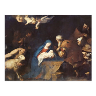 Jusepe de Ribera- Adoration of the Shepherds Postcard