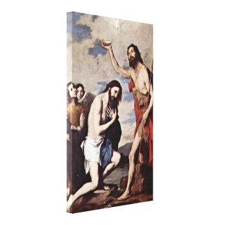 Jusepe de Ribera - bautismo de Cristo Impresiones En Lienzo Estiradas