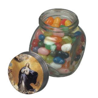 Jusepe de Ribera- Immaculate Conception Glass Candy Jar