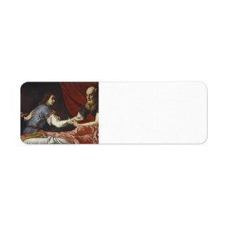 Jusepe de Ribera- Isaac que bendice a Jacob Etiqueta De Remite