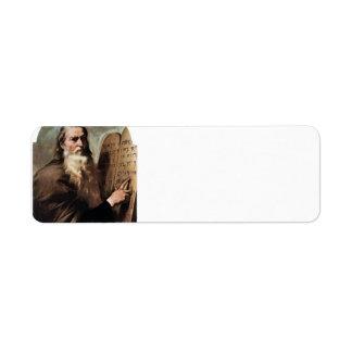 Jusepe de Ribera- Moses Etiqueta De Remite