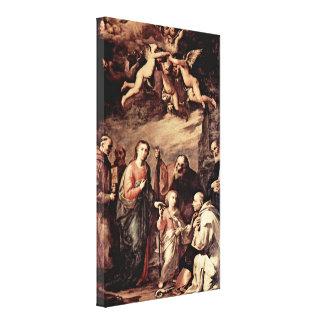Jusepe de Ribera - St Bernard of Siena Gallery Wrapped Canvas