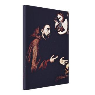 Jusepe de Ribera - St Francis de Assisi Impresión En Lona