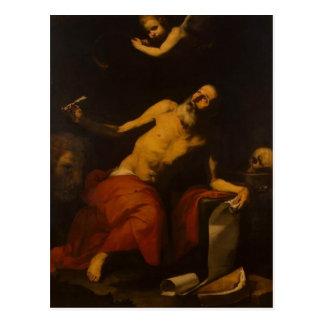 Jusepe de Ribera-St. Jerome Hears the Last Trumpet Postcard
