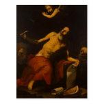 Jusepe de Ribera-St. Jerome oye la trompeta pasada Postales