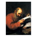 Jusepe de Ribera- St Matthew con el ángel Tarjetas Postales