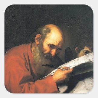 Jusepe de Ribera- St. Matthew with the angel Sticker