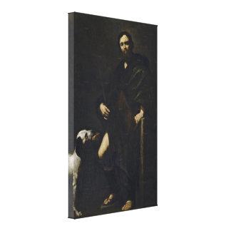 Jusepe de Ribera - St Roch Stretched Canvas Prints