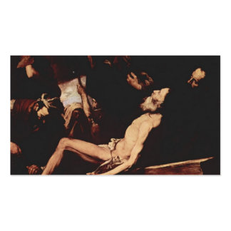 Jusepe de Ribera- The Martyrdom of St. Andrew Business Cards