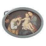Jusepe Ribera- la familia santa con St. Catherine Hebillas De Cinturon