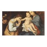 Jusepe Ribera- la familia santa con St. Catherine Plantillas De Tarjetas Personales