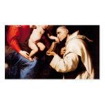 Jusepe Ribera-Madonna con el niño y St Bruno de Cr Plantillas De Tarjetas De Visita