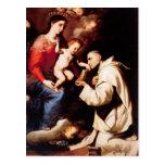 Jusepe Ribera-Madonna con el niño y St Bruno de Cr Postal
