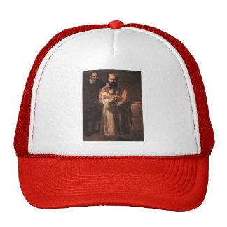 Jusepe Ribera-Magdalena Ventura Her Husband Son Mesh Hats