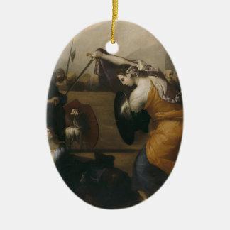 Jusepe Ribera- The Duel of Women Christmas Ornament