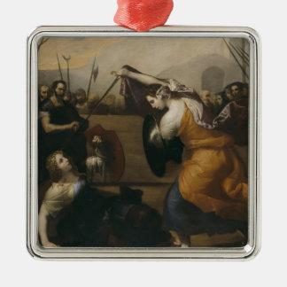 Jusepe Ribera- The Duel of Women Christmas Tree Ornaments