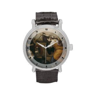 Jusepe Ribera- The Duel of Women Wrist Watch