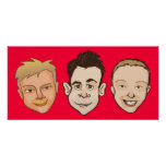 Just 3 Dudes (red) Print