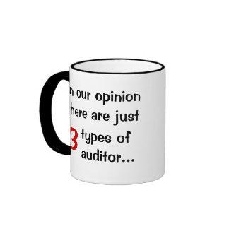Just 3 Types of Auditor - Audit Joke Ringer Coffee Mug