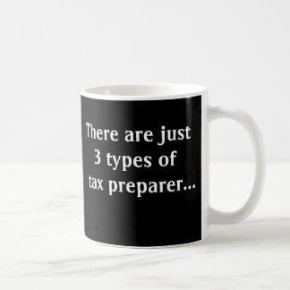 Just 3 Types of Tax Preparer Classic White Coffee Mug