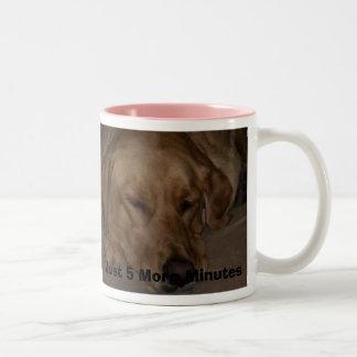Just 5 More Minutes Two-Tone Coffee Mug