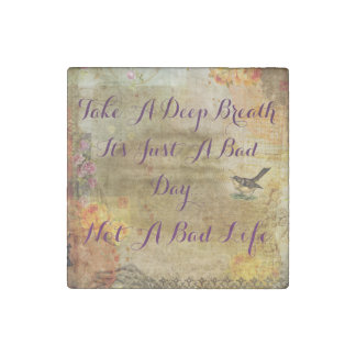 'Just a Bad Day' Motivational Magnet Stone Magnet