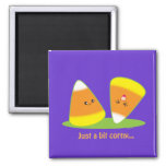 Just a Bit Corny 2 Inch Square Magnet