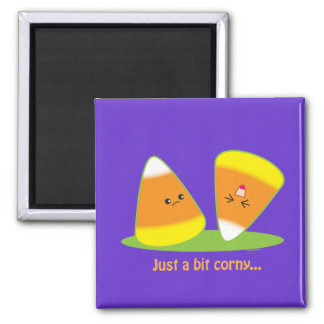 Just a Bit Corny 2 Inch Square Magnet