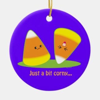Just a Bit Corny Ceramic Ornament