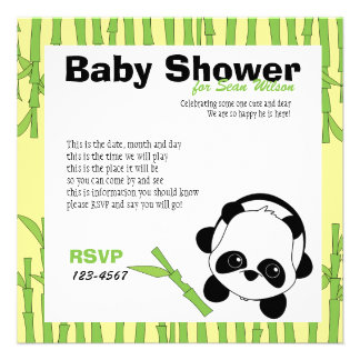 Just a Bit of Bamboo Personalized Invitation